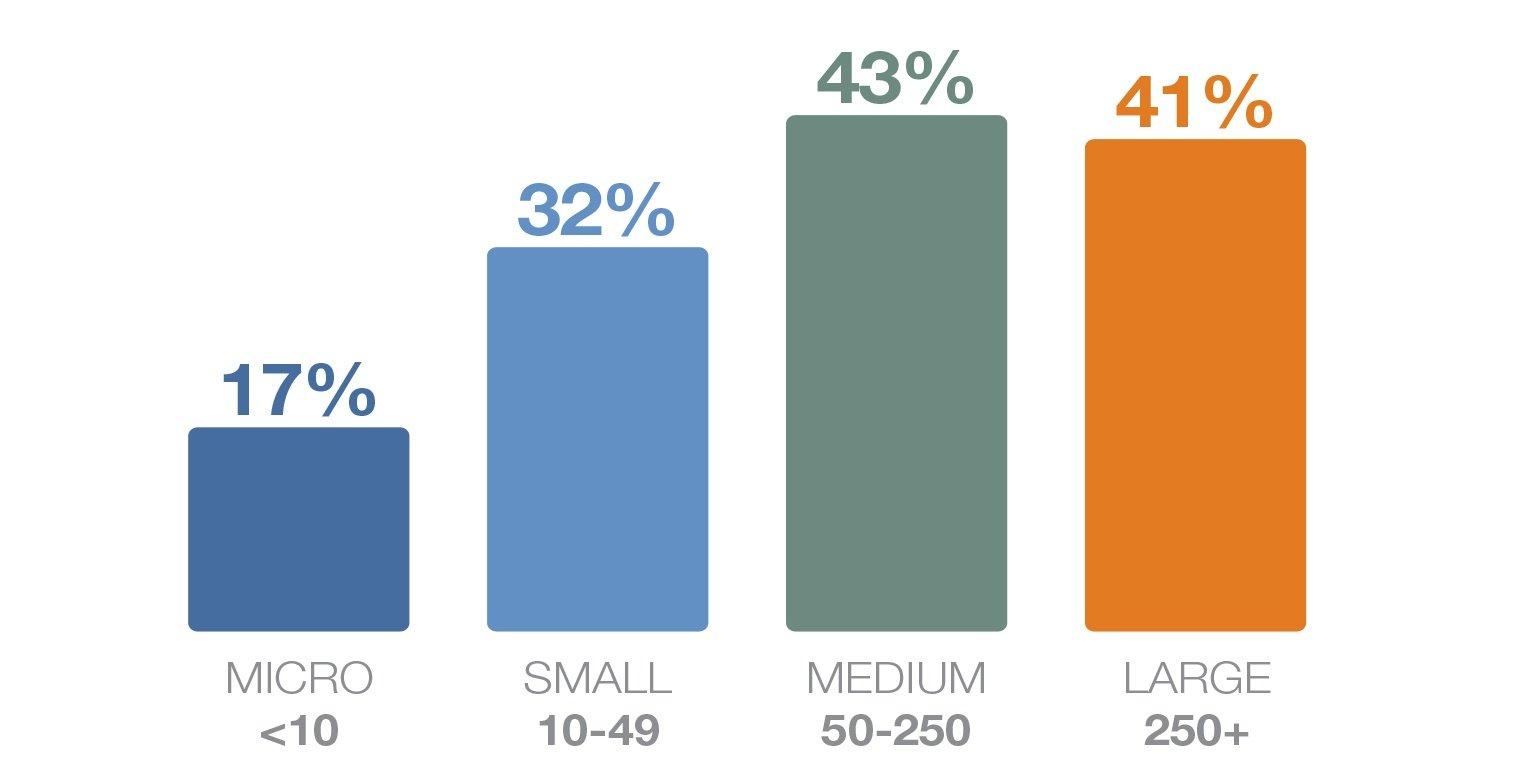 Talent shortage by company size v2